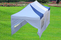 E Model 10'x20' Blue White - Pop Up Tent