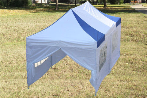 F Model 10'x20' Blue White - Pop Up Tent Pro
