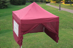 F Model 10'x10' Maroon - Pop Up Tent Pro