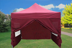 E Model 10'x10' Maroon - Pop Up Tent
