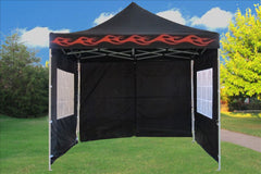 F Model 10'x10' Black Flame - Pop Up Tent Pro