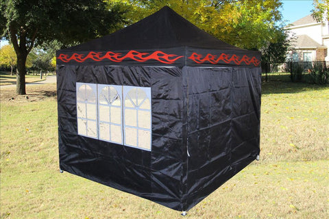 E Model 10'x10' Black Flame - Pop Up Tent