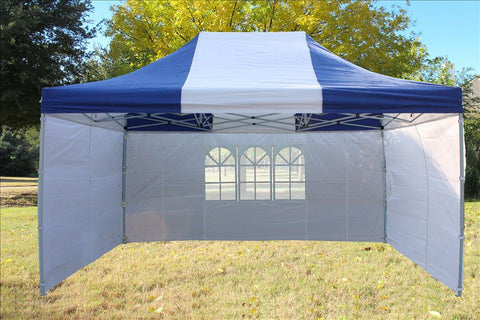 F Model 10'x15' Blue White - Pop Up Tent  Pro