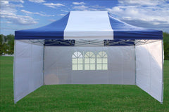 E Model 10'x15' Blue White - Pop Up Tent