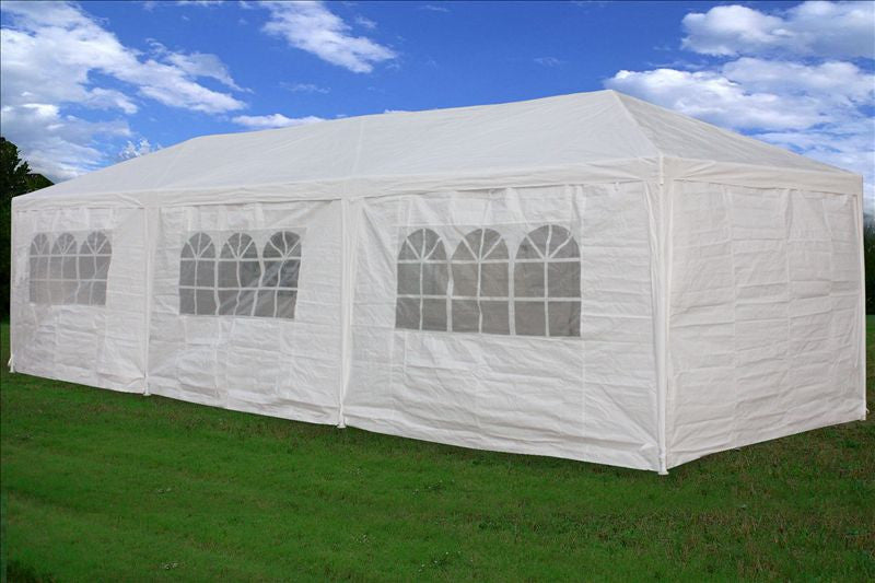 PE Wedding Tent 10u0027x30u0027 White - Gazebo Party Pavilion Catering Shelter & PE Wedding Tent 10u0027x30u0027 White - Gazebo Party Pavilion Catering ...