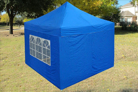 E Model 10'x10' Blue - Pop Up Tent