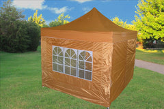 F Model 10'x10' Burnt Orange - Pop Up Tent Pro