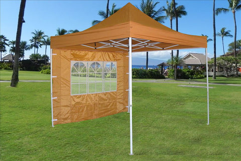 E Model 10'x10' Burnt Orange - Pop Up Tent