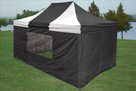 F Model 10'x15' Black White - Pop Up Tent  Pro