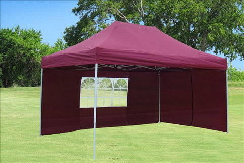 F Model 10'x15' Maroon - Pop Up Tent Pro