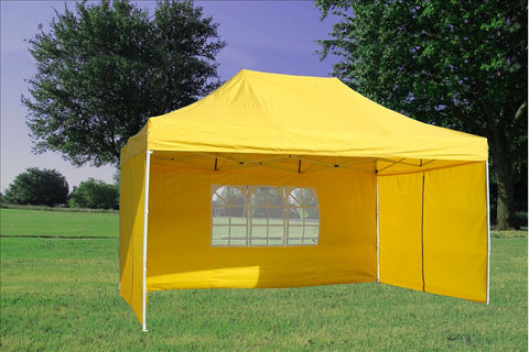F Model 10'x15' Yellow - Pop Up Tent Pro