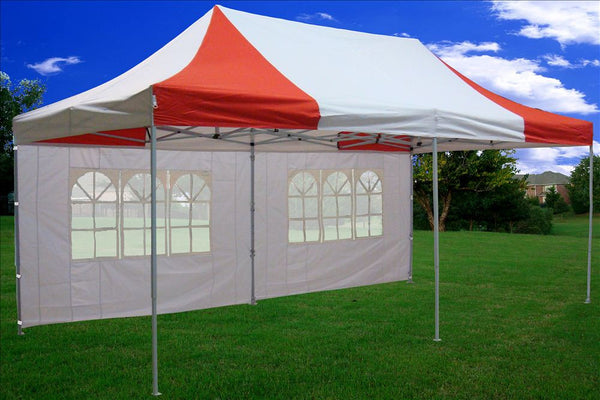 F Model 10 X20 Red White Pop Up Tent Pro Deltacanopy