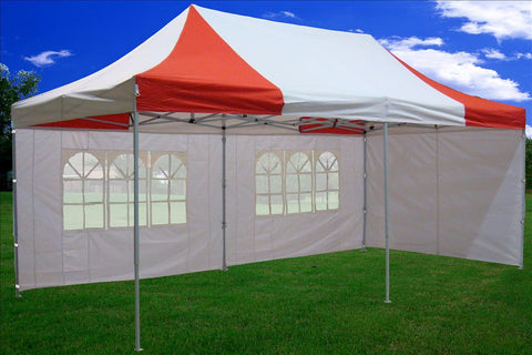 F Model 10'x20' Red White - Pop Up Tent Pro