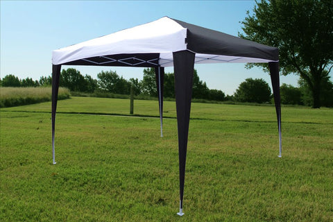CS N 10'x10' Black White - Pop Up Tent