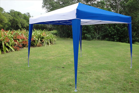 CS N 10'x10' Blue White - Pop Up Tent