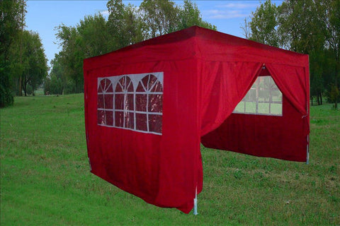 CS 10'x10' Red - Pop Up Tent