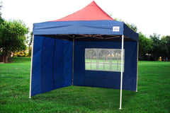 F Model 10'x10' Red Navy Blue - Pop Up Tent Pro