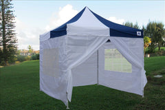 E Model 10'x10' Navy Blue White - Pop Up Tent