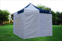 F Model 10'x10' Navy Blue/White - Pop Up Tent Pro