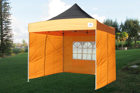 E Model 10'x10' Black Orange - Pop Up Tent