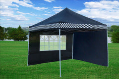 F Model 10'x10' Black Checker - Pop Up Tent Pro
