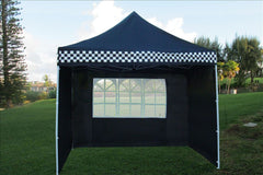 E Model 10'x10' Black Checker - Pop Up Tent