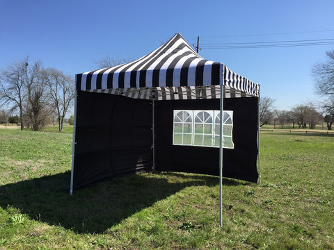 E Model 10'x10' Black Stripe - Pop Up Tent