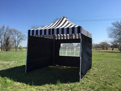 F Model 10'x10' Black Stripe - Pop Up Tent Pro