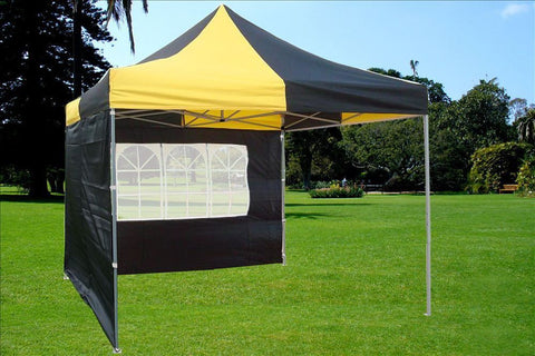 E Model 10'x10' Black Yellow - Pop Up Tent