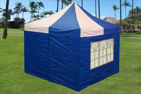 E Model 10'x10' Blue White - Pop Up Tent