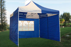 F Model 10'x10' Blue White - Pop Up Tent Pro