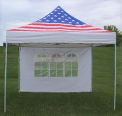 F Model 10'x10' American Flag - Pop Up Tent Pro