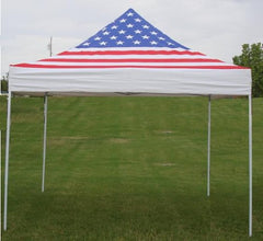 E Model 10'x10' American Flag - Pop Up Tent