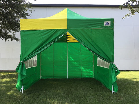 E Model 10'x10' Green Yellow - Pop Up Tent