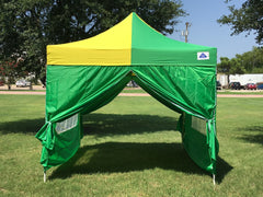 F Model 10'x10' Green Yellow - Pop Up Tent Pro