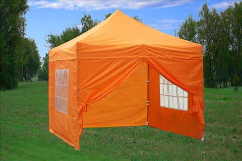 F Model 10'x10' Orange - Pop Up Tent Pro