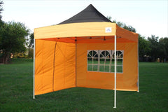 F Model 10'x10' Black Orange - Pop Up Tent Pro