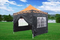 E Model 10'x10' Orange Flame - Pop Up Tent
