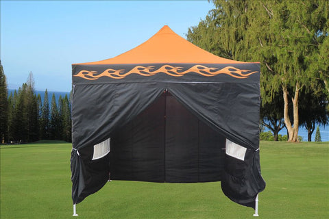 F Model 10'x10' Orange Flame - Pop Up Tent Pro