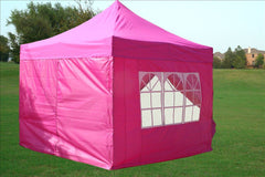 F Model 10'x10' Pink - Pop Up Tent Pro