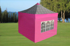 F Model 10'x10' Pink Zebra - Pop Up Tent Pro