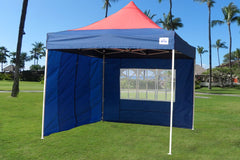E Model 10'x10' Navy Blue Red - Pop Up Tent
