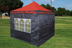 F Model 10'x10' Red Flame - Pop Up Tent Pro