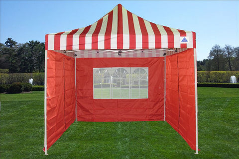F Model 10'x10' Red Stripe - Pop Up Tent Pro