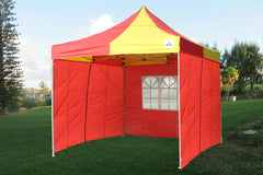 E Model 10'x10' Red Yellow - Pop Up Tent