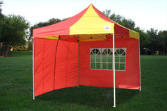 F Model 10'x10' Red Yellow - Pop Up Tent Pro