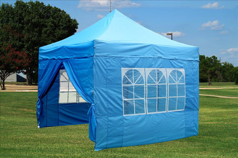 F Model 10'x10' Sky Blue - Pop Up Tent Pro