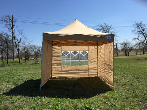 E Model 10'x10' Tan - Pop Up Tent