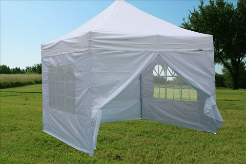 F Model 10'x10' White - Pop Up Tent Pro