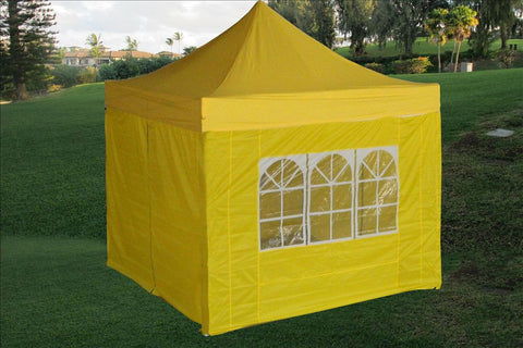 E Model 10'x10' Yellow - Pop Up Tent